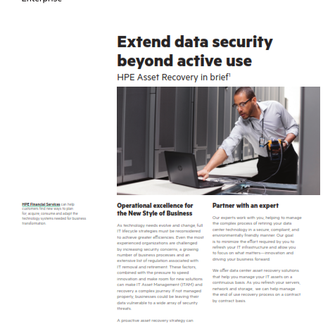 Extend Data Security Beyond active Use