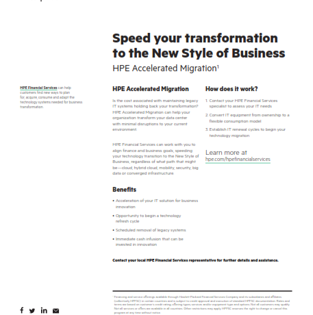 Speed your Transformation to the New Business Style
