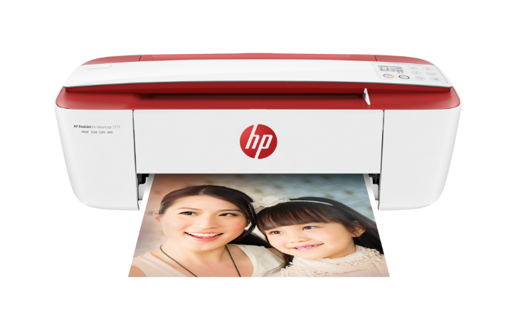 HP DeskJet Ink Advantage 3777 All-in-One Printer (Cardinal Red)